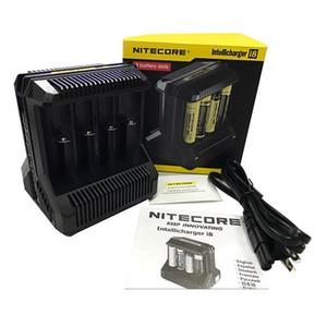 100 % 정통 Nitecore I8 충전기 8 슬롯 18650 용 16450 14500 18350 기타 충전식 배터리 DHL 무료 배송
