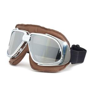 Vendita calda Antiqued per occhiali da moto stile Harley occhiali antipolvere steampunk occhiali da sole sportivi usati all'aperto