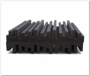 Chegada nova cor preta espuma acústica tamanho grande 50 * 50 * 5 cm espuma de estúdio de absorção de som tratamento de espuma à prova de som painéis de parede