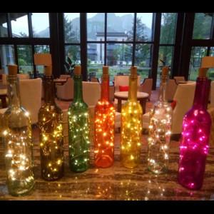 Intelligente neue bunte Weinflasche mit hellem geführtem Weinflaschenkorken-Schnurlicht für Hochzeits-Partydekorationen KTV Bar DIY