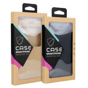 Coloré Crochet Kraft Brun Papier Boîte De Vente au Détail boîtes d'emballage Blister titulaire interne pour téléphone cas iPhone X 8 7 6 6 S Plus Samsung S7 Edge OEM