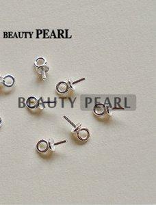 Bulk von 50 Stück Perlen Ende Anschlüsse für Charms DIY Perlenschmuck 925 Sterling Silber Bead Caps