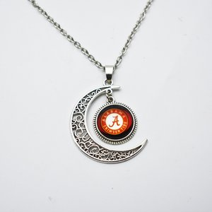 NCAA Alabama Équipe sportive ronde pendentif charme collier bijoux pour fans de verre pendentif sport collier
