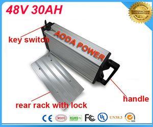 Arka raf bisiklet elektrikli 1000 w 48 v 30ah lityum pil için 48 v Bafang / 8fun 1000 w / 750 w orta / Merkezi sürücü motor ile Şarj Samsung Cep Için