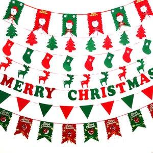 Decorazione natalizia Hang Flags Different Style Albero di Natale Snow Wave Flag Tessuto non tessuto 8 pezzi Borsa Spedizione veloce