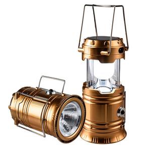 Lanterna ricaricabile super luminosa, LED da campeggio solare, ricarica USB, alimentazione a batteria, energia solare, leggera, adatta per: escursionismo, campeggio,