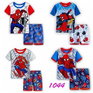 2018 новый дизайн лето дети детские пижамы костюмы мальчики пижамы дети пижамы девушки мультфильм с коротким рукавом пижамы свободный корабль