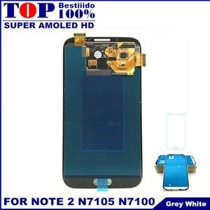 Totalmente 100% probado Super AMOLED LCD para Samsung Galaxy Note 2 N7105 N7100 Note2 Pantalla LCD Touch Digitizer Assembly