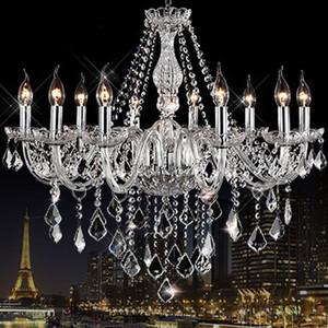 HOT pendant Noble Luxurious Export K9 Clear Crystal Chandelier 4/6/8/10/12/15/18 Arms Optional Lustres De Cristal Chandeliers