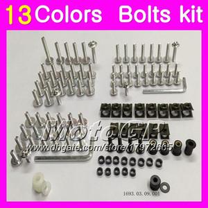 Kit completo de tornillos de carenado Para HONDA NSR250R MC18 PGM2 NSR 250R NSR250R NSR250RR 88 89 1988 1989 Tuercas de cuerpo tornillos tuercas kit de tornillos 13Colores