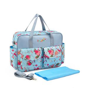 Al por mayor-Moda mami bolsa de pañales de gran capacidad multifuncional bolsa de maternidad mujeres embarazadas mochila bolsa de pañales para bebés