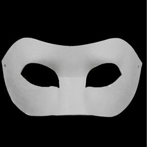 Tábua de desenho Sólida Branco DIY Zorro Máscara de Papel Em Branco máscara de Jogo para Escolas de Formatura Celebração Novidade Festa de Halloween masquerade máscara