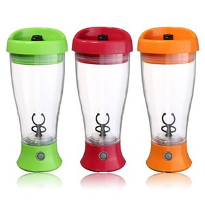Wholesale- 350ml Electric Protein  Shaker Coffee Milk Shake Automatic Jar Fitness Sports Water Bottle Blender Cup Home Convenient