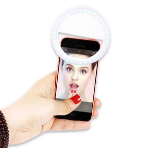 Üretici şarj LED flaş güzellik selfie lamba açık selfie halka doldurun tüm cep telefonu için şarj edilebilir