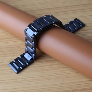 Correa de reloj pulsera brillante azul relojes hombres mujeres accesorios 20 mm 22 mm reloj de acero inoxidable bandas de alta calidad ajuste horas inteligentes