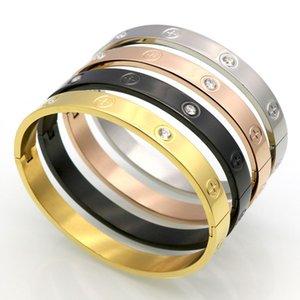 Tide марка ювелирных изделий и золота винт простой чистый черный титан браслет нувориш крест винт с бриллиантом браслет
