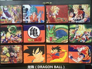 Japon Karikatür Cüzdan Hasp Dragon Ball Z Cüzdan Genç Boy Kız Ultra Ince Kısa Anime Cüzdan Çantalar Güneş Goku