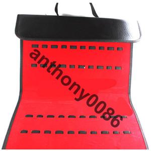 bolso de cuero negro grande de la exhibición de las tijeras del pelo para 30 herramientas del peluquero de las tijeras 36.5 * 24 * 4.5cm