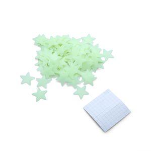 Brilham No Escuro Estrelas Espaço Stellar Decalques de Parede Adesivos para Quarto de Crianças 100 Pçs / set popular