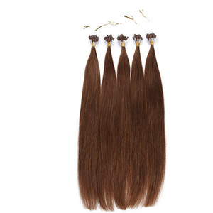 #6 Micro loop ring hair extension1g strand 200pcs lot cheap indian human hair double drawn micro loop hair extension