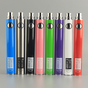 Evod UGO-V II Vape Pen Battery Micro USB Passthrough 650 900 мАч Зарядка Fit Распылители EGo 510 Резьба UGO-V II Аккумулятор