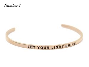 Acciaio inossidabile aperto del polsino Rose braccialetto d'oro Stamped Bracciali Bangle Inspirational braccialetti dei braccialetti monili caldi di vendita