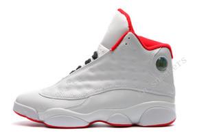 Дешевые новые Jumpman 13 XIII ВСЕ белые красные мужские баскетбольные туфли кроссовки кроссовки для мужчин Размер обуви обуви 40-47