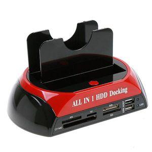 """2.5 """"3.5""""SATA / IDE 2 더블 도킹 HDD 도킹 스테이션 e- SATA / 허브 외장형 스토리지 엔클로저 부품 20PCS / LOT 무료"""