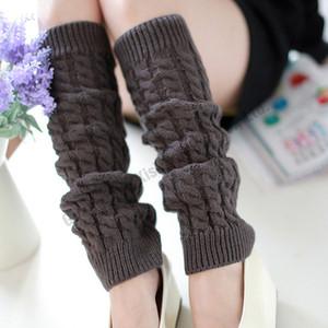 Atacado 2016 Leg Warmer Plain Knitting Lã Mulheres popular para senhoras Tampa Leggings Crochet Meias