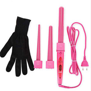 Hot Selling Pro 3 In 1 Hair Curler Y-8 Hairstyling Removeable Hair Wand In 3 Barrel Digital Hair Curls Machine