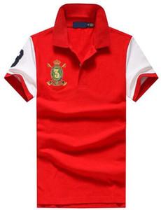 Активный 2017 Американский Дизайн Лето Весна Мужчины Рубашка Поло Хлопок Мужские Рубашки Поло Тройник Топы Бесплатная Доставка