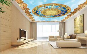 3d soffitto murales carta da parati personalizzata foto murale 3d soffitto angelo cielo blu carta da parati per soggiorno soffitto 3d