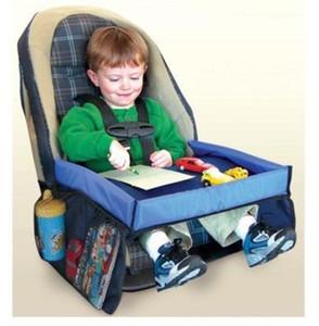 5 Renk Bebek Bebekler Araç Emniyet Kemeri Seyahat Çal Tepsi su geçirmez katlanır masa Bebek Oto Koltuk Kapak Harness Buggy Bebek arabası Snack B001
