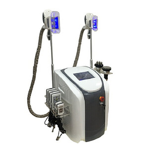 4 in 1 Multiunction Cryolipolysis Fat Freezing Lipolaser Cavitation RF Slimming Machine With Two Cryo Handles Can Work At The Same Time
