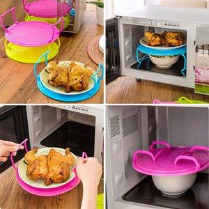 Cremalheira Do Vapor da microonda Bandeja Do Prato Em Camadas de Plástico Anti Escaldadura Multiuso Isolado Racks Cozinhar Bowls Shelving Em Camadas bandeja WX-C04