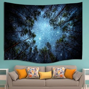 153x102cm Forest Star Sky Hippie Wall Hanging Blanket Mandala Tapestry Bohemian Wall Decor Beach Picnic Yoga Mat Throw Towel Tapestries