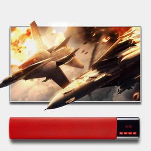 무선 사운드 바 10W 블루투스 스피커 듀얼베이스 3D 서라운드 음악 플레이어 지원 FM TF AUX altavoz PC TV 전화