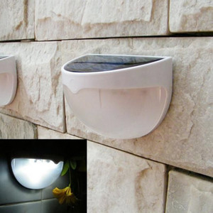 Wholesale- Newest 6 LED Garden Light Solar led Panel Lamp Sensor Waterproof mounted Outdoor Fence Wall Lamp Lighting