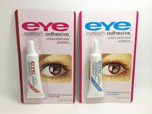 Adhesivos para pestañas Eye White Glue Eyelash Glue Herramientas de maquillaje Adhesivos para pestañas impermeables 1200pcs por DHL Free