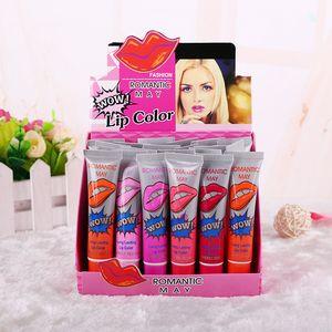 Newest Lip Gloss Peel-off Lasts For 24h No Stain Marine Collagen Lipstick Balm Plant Romantic Bear 6 Colors Makeup Moisturizing Lip Mask