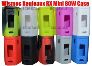 Pour Wismec Reuleaux RX Mini 80W E cigarette électronique Etui en silicone Couverture de la peau Sac Poche Pochette Accessoires Boîte Cas