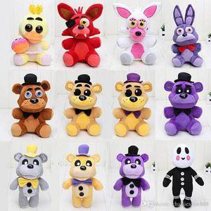 25 centímetros - 30 centímetros FNAF cinco noites no Freddy Urso Fox Bonnie Chica Ouro Freddy Pesadelo Fredbear crianças brinquedos de pelúcia