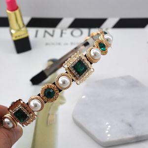 free shipping hot sell luxury hair accessories fashion royal baroque headband pearl rhinestone metal crystal hair bands flower hair bands