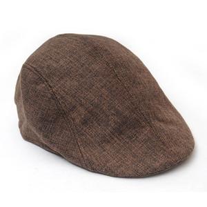 All'ingrosso caldo 2016 Cappello invernale Beret Mens strillone ha alzato strillone Berretti Paese esterna Golf Hat Beret Coppola Lino Beret W1
