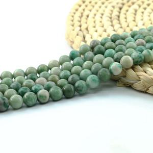 Forma de Qinghai Jade piedra preciosa natural redonda semipreciosas Joyas de piedras preciosas perlas de suministro al por mayor 6/8/10 mm del filamento lleno 15 pulgadas # L0571