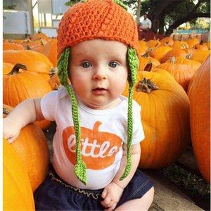 الشكر هالوين لطيف القطن الصيف الربيع autume الرضع الاطفال طفلة الصبي الملابس اليقطين ارتداءها رومبير sunsuit وتتسابق 0-24 متر