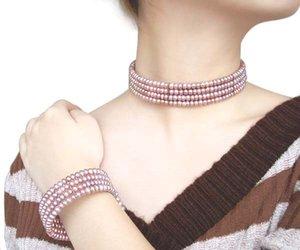 Toutes 600+ conçues et définies, inspiré de véritables perles de cou de cou d'eau douce, bracelet confort convient perle pour perle de cou wwenn