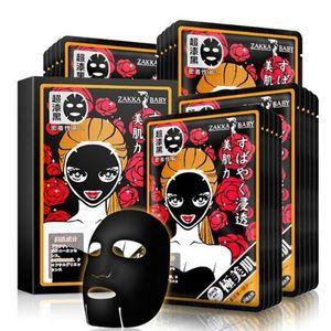 Máscara Zakka BEBÊ Máscara Facial japonês Bamboo Charcoal Hidratante Preto Cuidados Máscara Facial Skin Care Beauty Makeup Produto DHL grátis