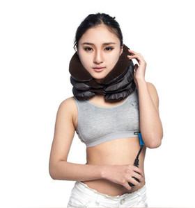 Almohada inflable Cuello trasero Hombro Alivio para el dolor Masajeador Cervical Tracción Cuello Dispositivo de tracción cervical Cuidado del cuello Masaje OOA2137