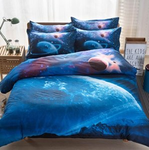 3d Galaxy Duvet Cover Set Single double Twin Queen 4pcs bedding sets Universe Outer Space Themed Bed Linen